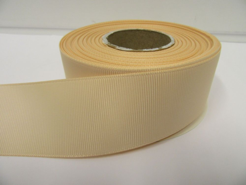 Nude Light Beige Grosgrain ribbon Ribbed Double sided 3mm